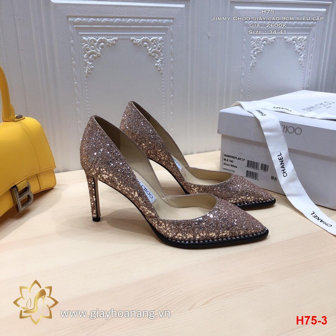 H75-3 Jimmy Choo giày cao 9cm siêu cấp