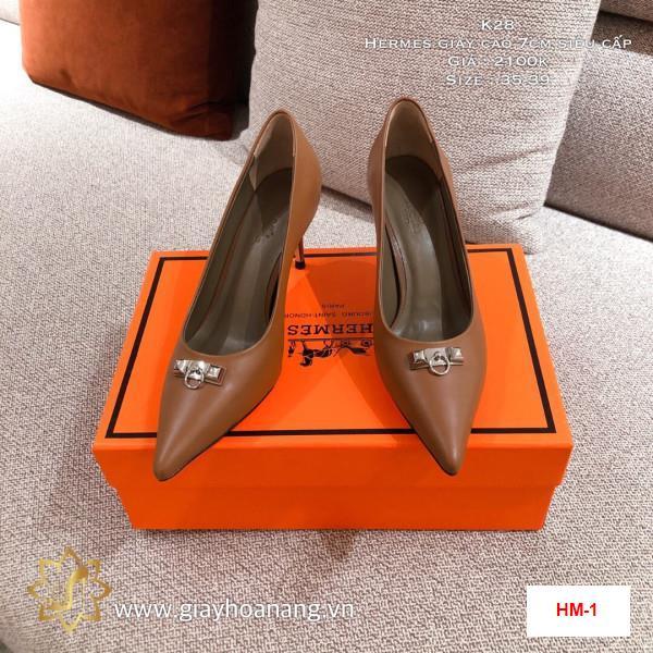 HM-1 Hermes giày cao 7cm siêu cấp