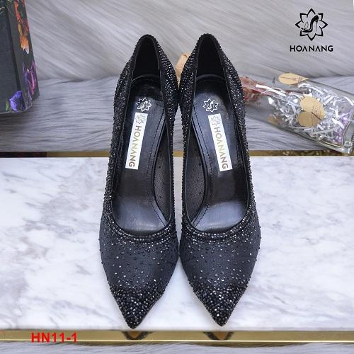 HN11-1 Hoa Nắng giày nhũ siêu cấp cao 9cm