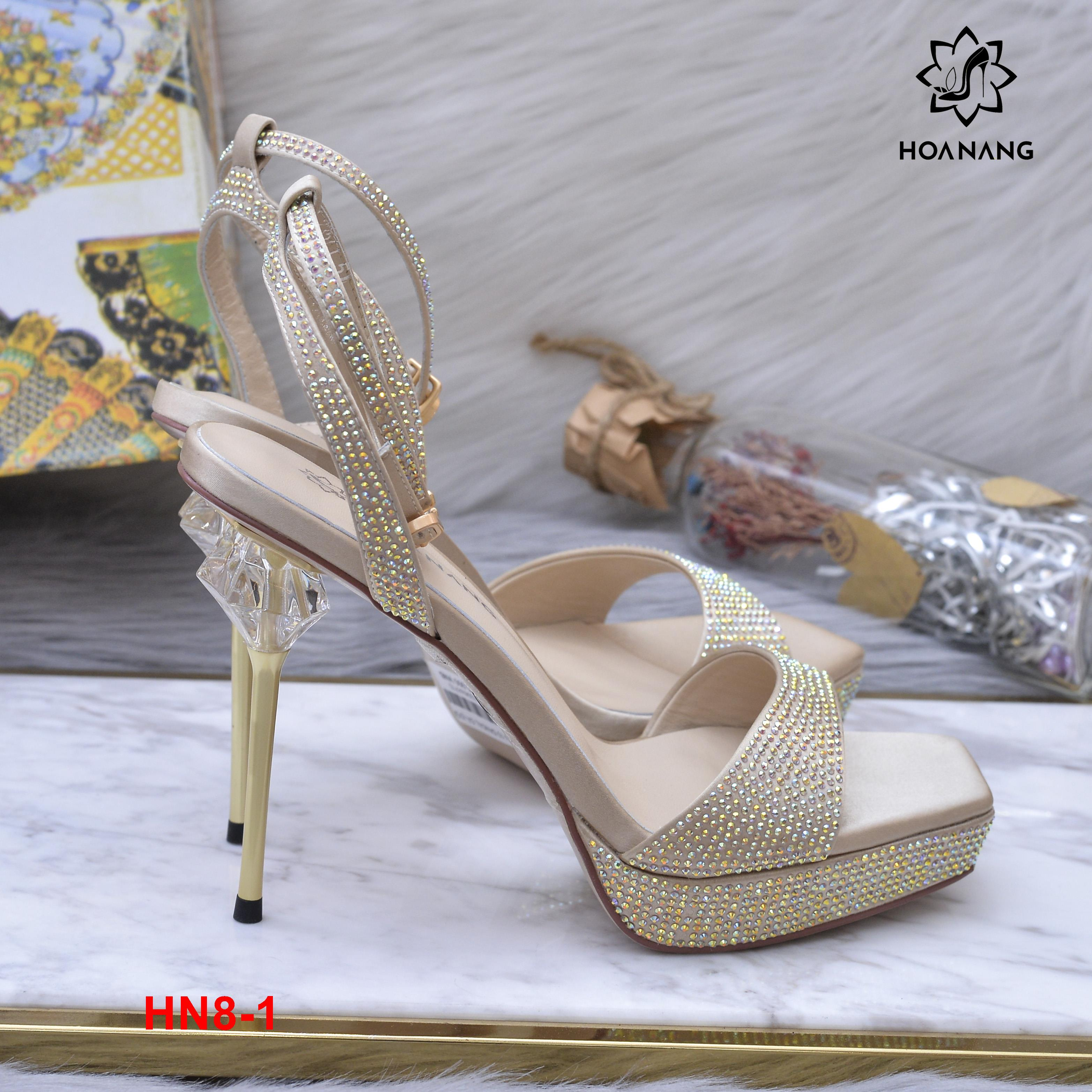 HN8-1 Hoa Nắng giày sandal siêu cấp cao 11cm kếp cao 3cm