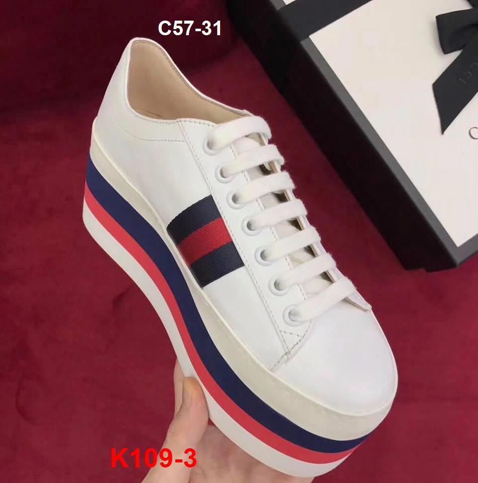 K109-3 Gucci siêu cấp giày thể thao độn đế cao 8cm