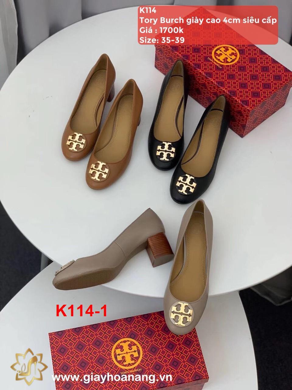 K114-1 Tory Burch giày cao 4cm siêu cấp