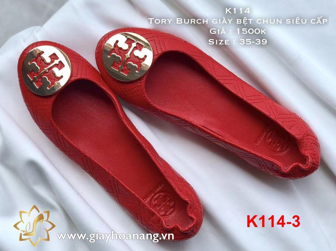 K114-3 Tory Burch giày bệt chun siêu cấp