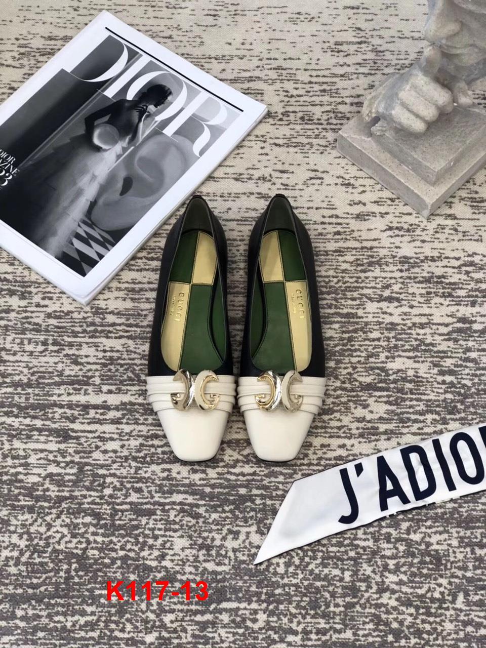 K117-13 Gucci giày bệt siêu cấp