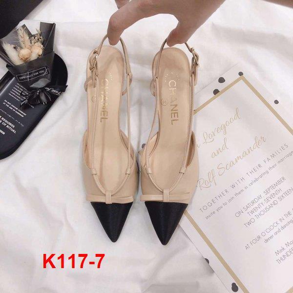 K117-7 Chanel sandal cao 6cm siêu cấp
