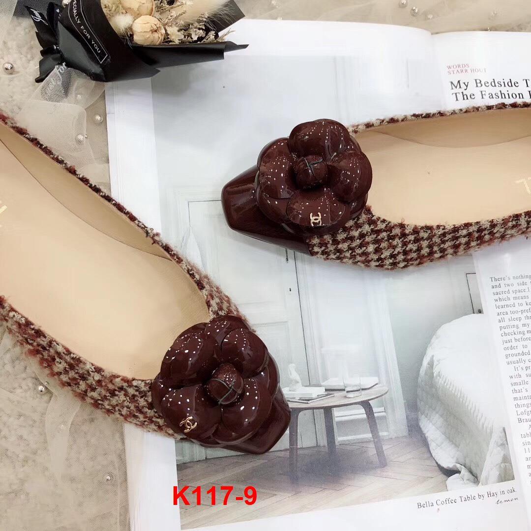 K117-9 Chanel giày bệt siêu cấp