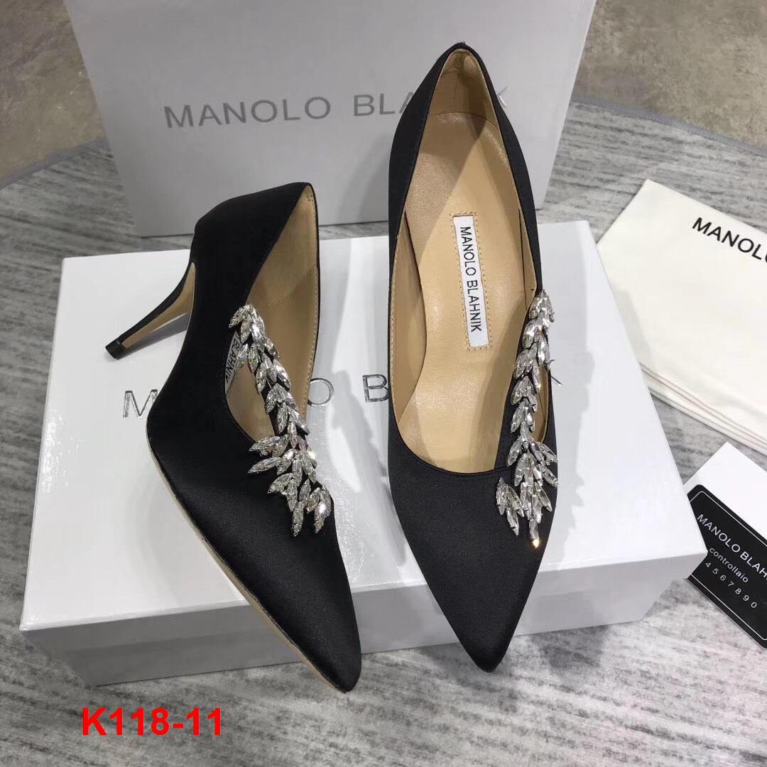 K118-11 Manolo Blahnik giày cao 7cm siêu cấp