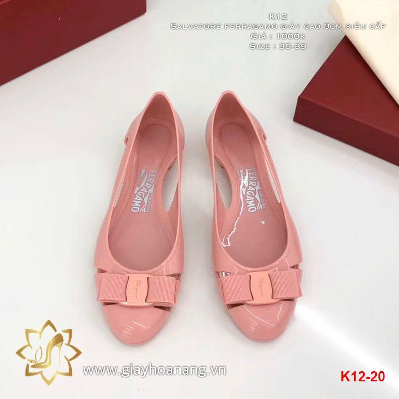 K12-20 Salvatore ferragamo giày cao 3cm siêu cấp