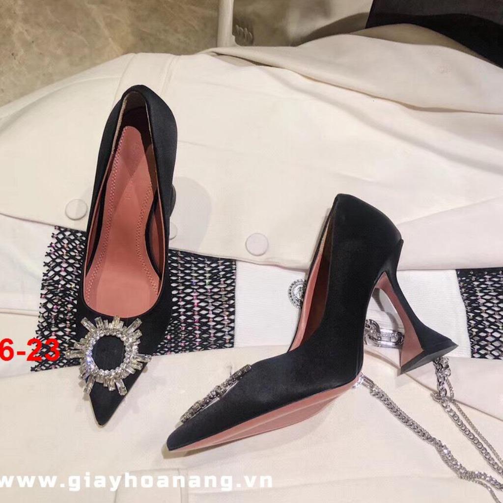 K126-23 Amina Muaddi giày cao 9cm siêu cấp