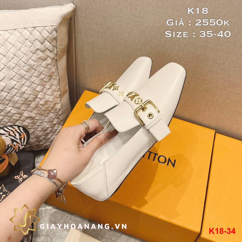 K18-34 Louis Vuitton giày lười siêu cấp