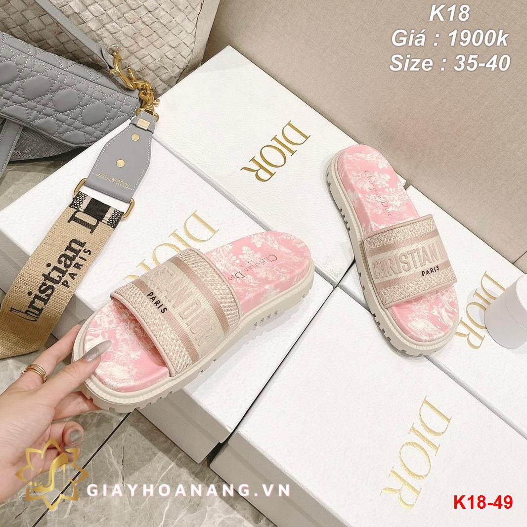 K18-49 Dior dép bệt siêu cấp
