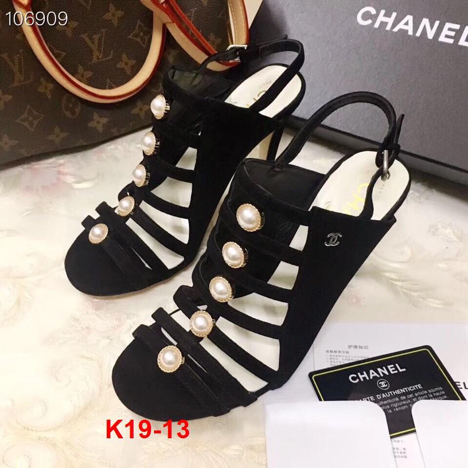 K19-13 Chanel sandal cao 9cm siêu cấp