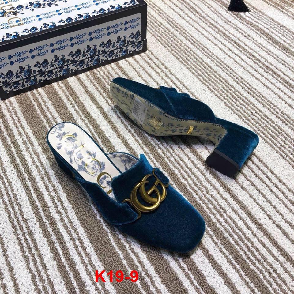 K19-9 Gucci dép cao 6cm siêu cấp