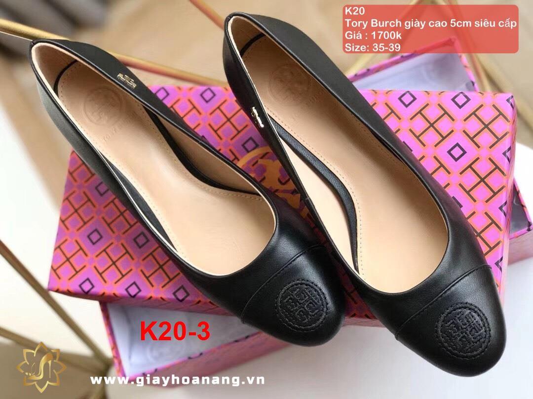 K20-3 Tory Burch giày cao 5cm siêu cấp
