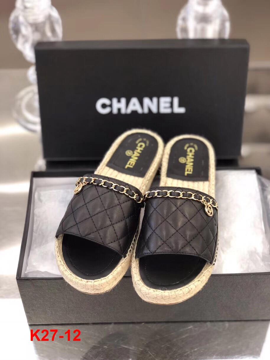 K27-12 Chanel dép bệt siêu cấp