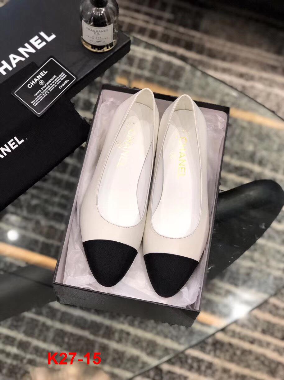 K27-15 Chanel giày cao 5cm siêu cấp