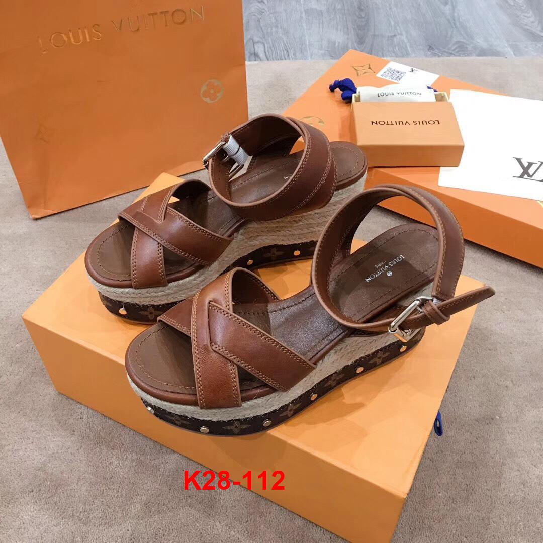 K28-112 Louis Vuitton sandal đế xuồng cao 10cm siêu cấp