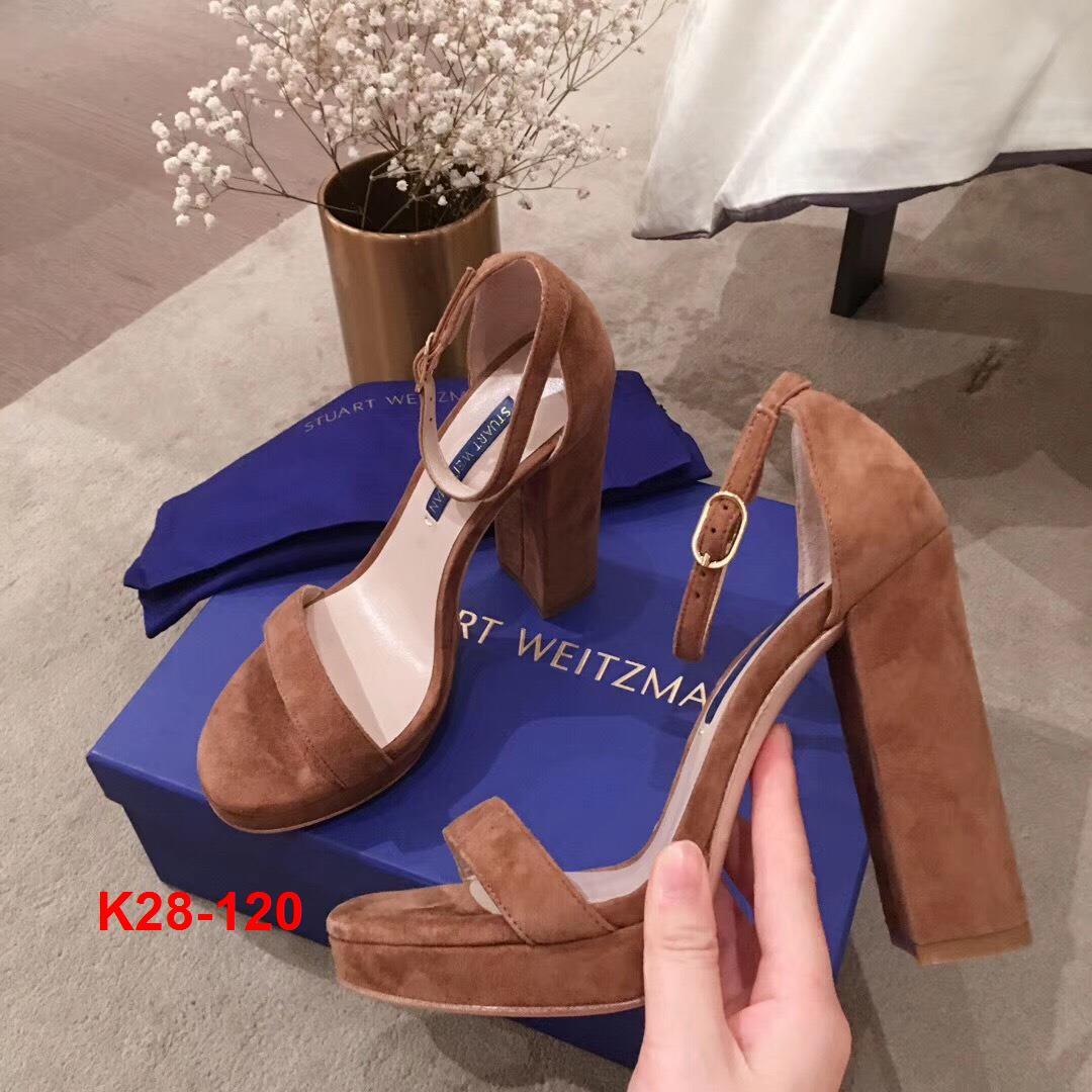 K28-120 Stuart Weitzman sandal cao 12cm đế kếp 2cm siêu cấp