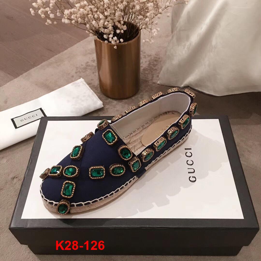 K28-126 Gucci giày lười đế cói siêu cấp