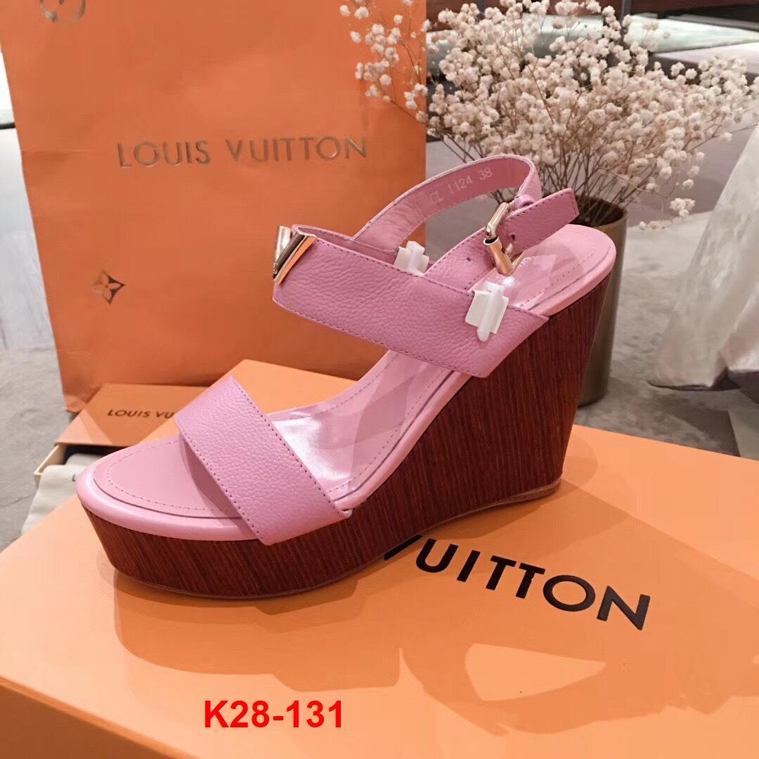 K28-131 Louis Vuitton sandal đế xuồng cao 12cm đế kếp 4cm siêu cấp
