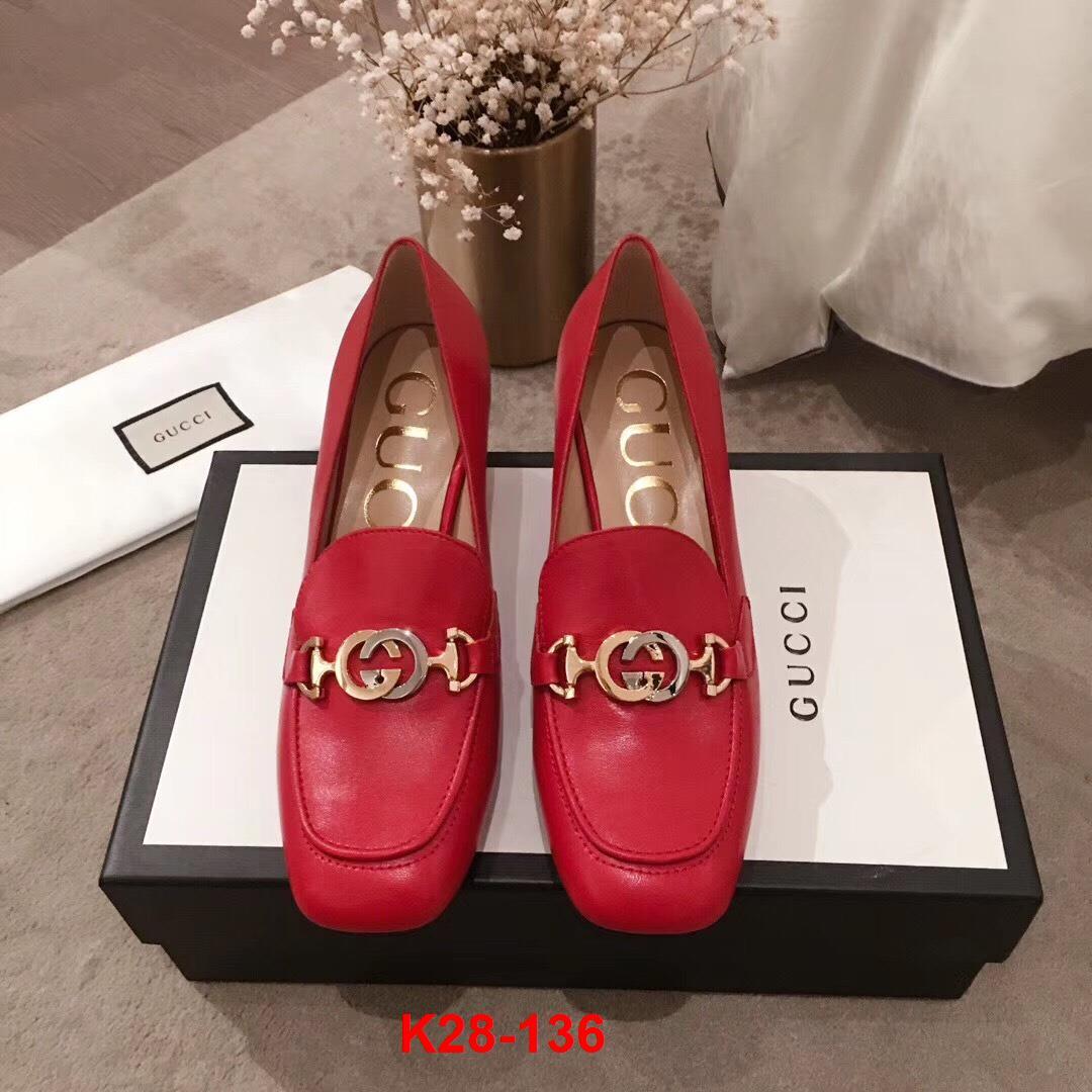 K28-136 Gucci giày cao 6cm siêu cấp