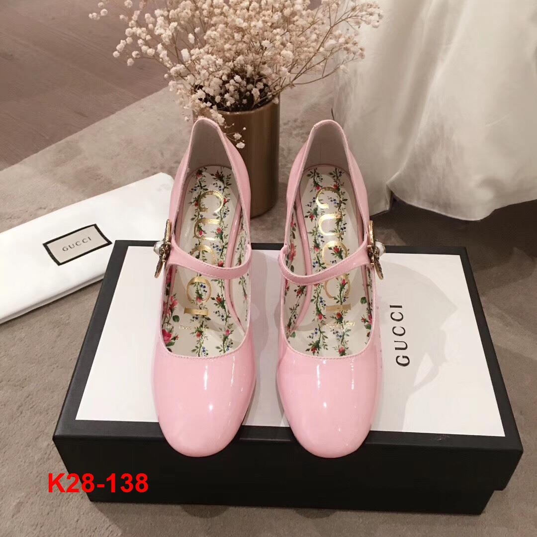 K28-138 Gucci giày cao 6cm siêu cấp