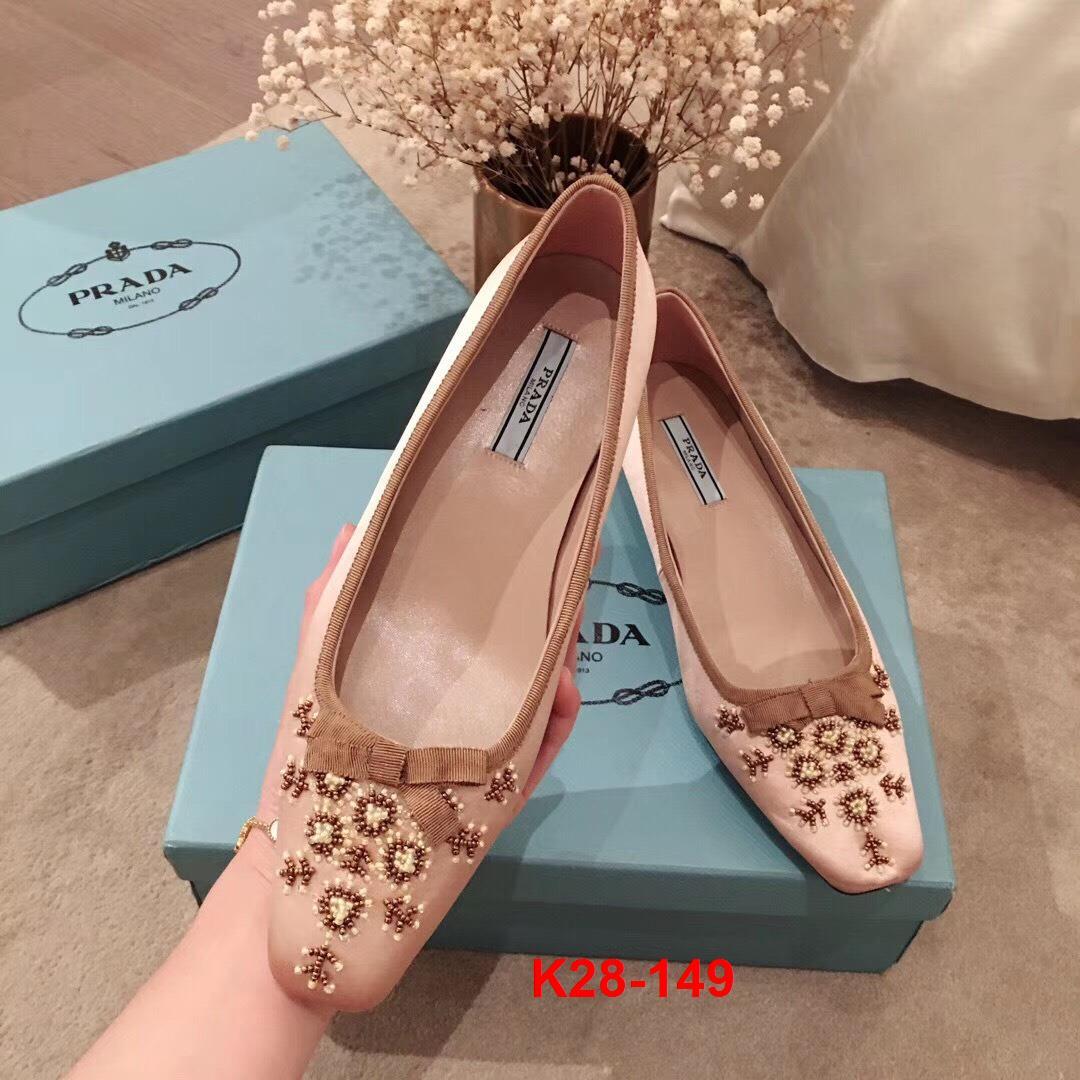 K28-149 Prada giày cao 6cm siêu cấp