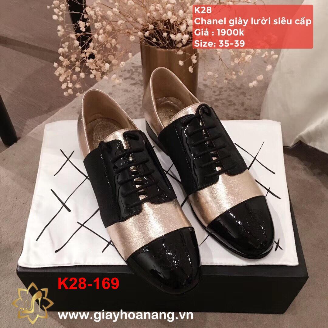 K28-169 Chanel giày lười siêu cấp