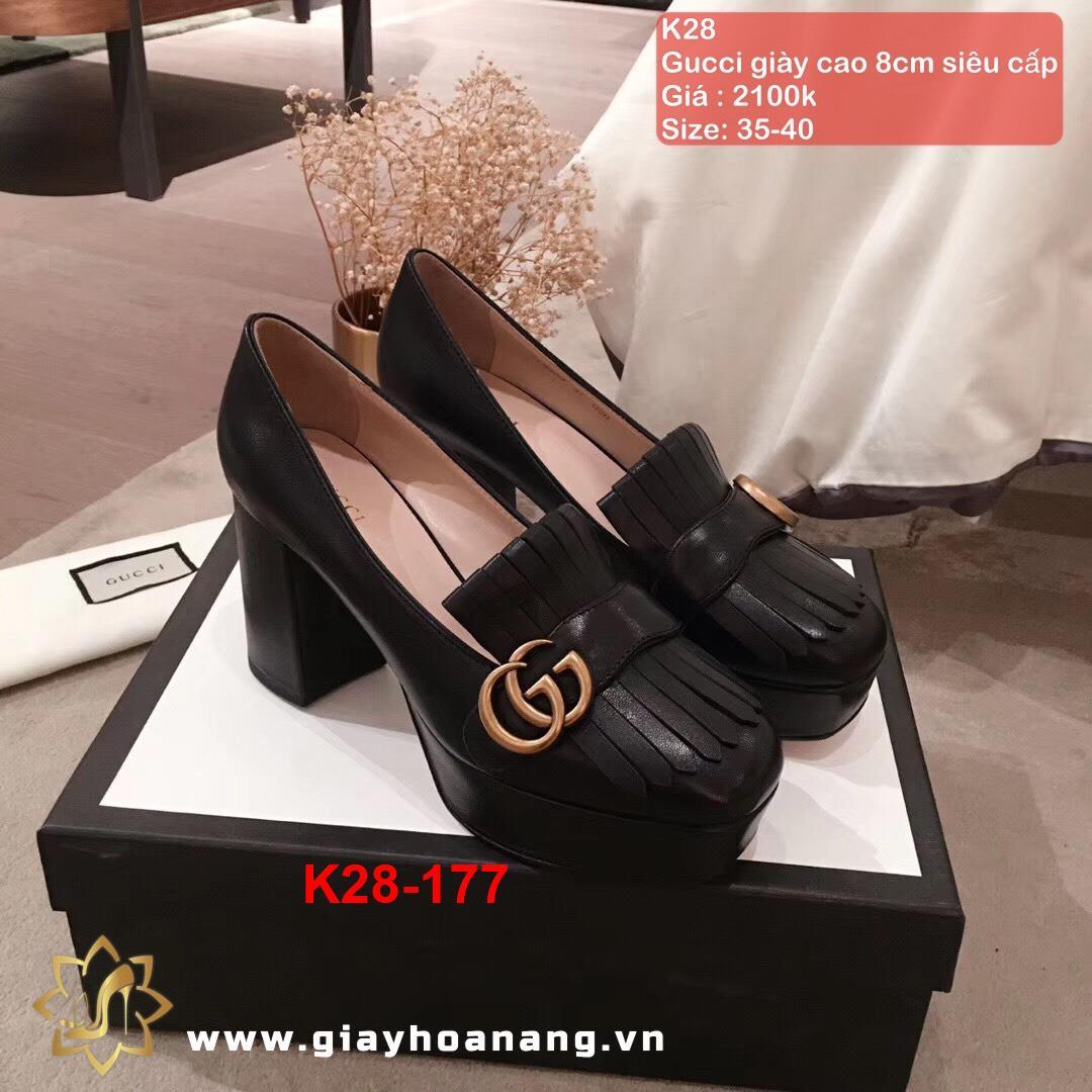 K28-177 Gucci giày cao 8cm siêu cấp