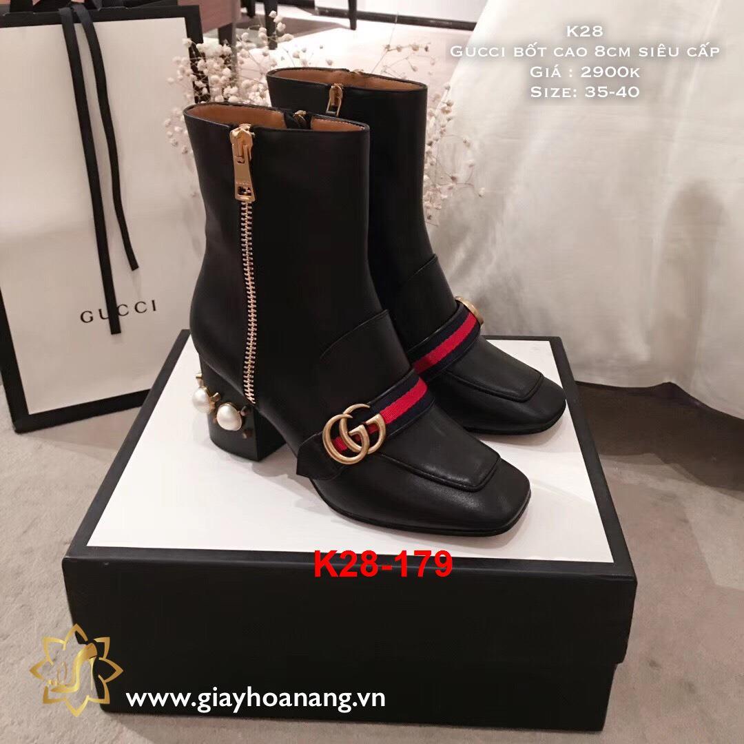 K28-179 Gucci bốt cao 8cm siêu cấp