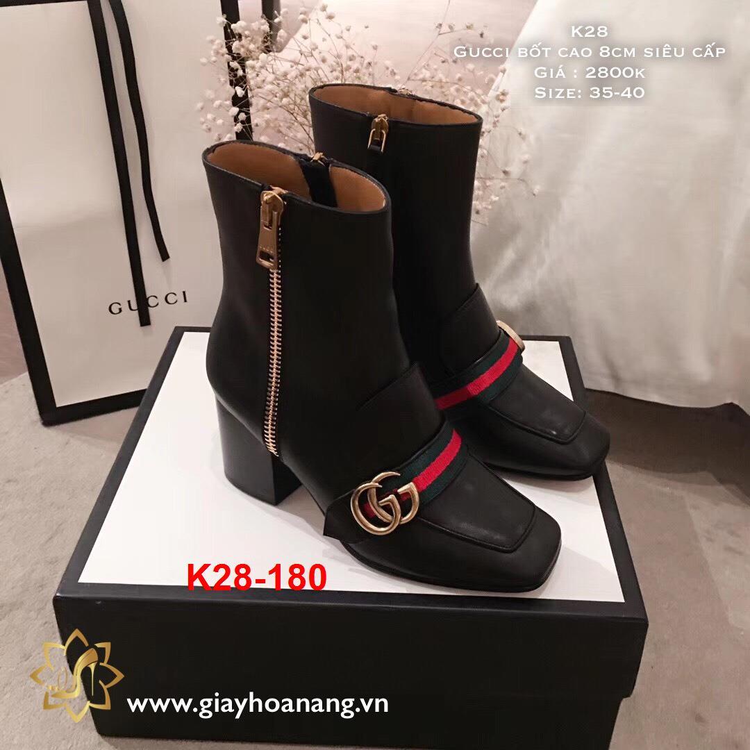 K28-180 Gucci bốt cao 8cm siêu cấp