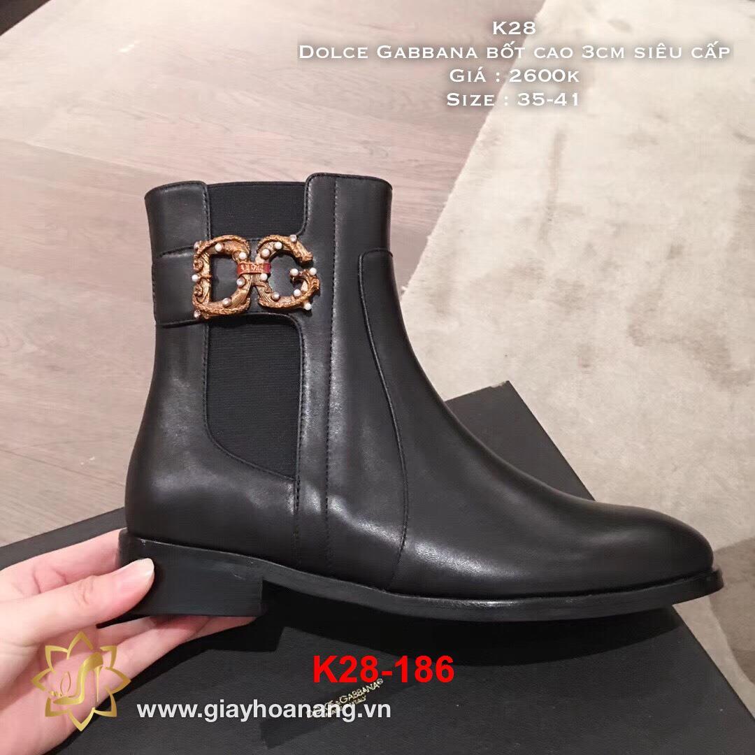 K28-186 Dolce Gabbana bốt cao 3cm siêu cấp