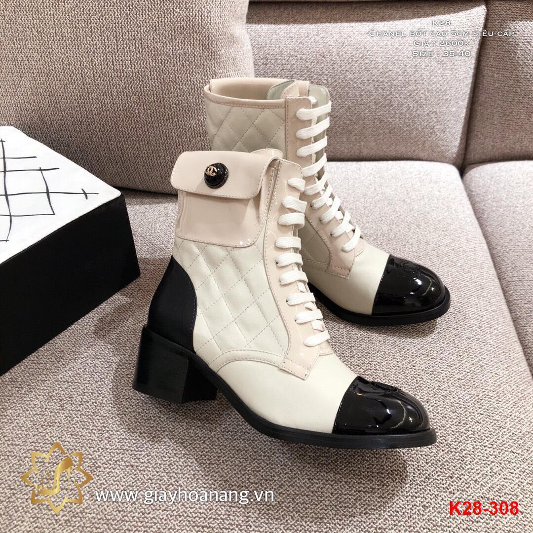 K28-308 Chanel bốt cao 5cm siêu cấp