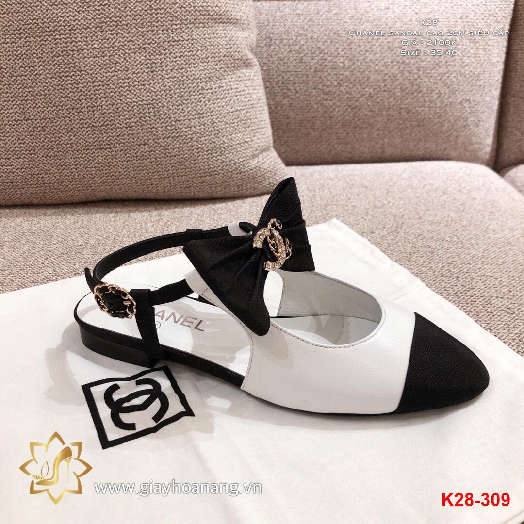 K28-309 Chanel sandal cao 2cm siêu cấp