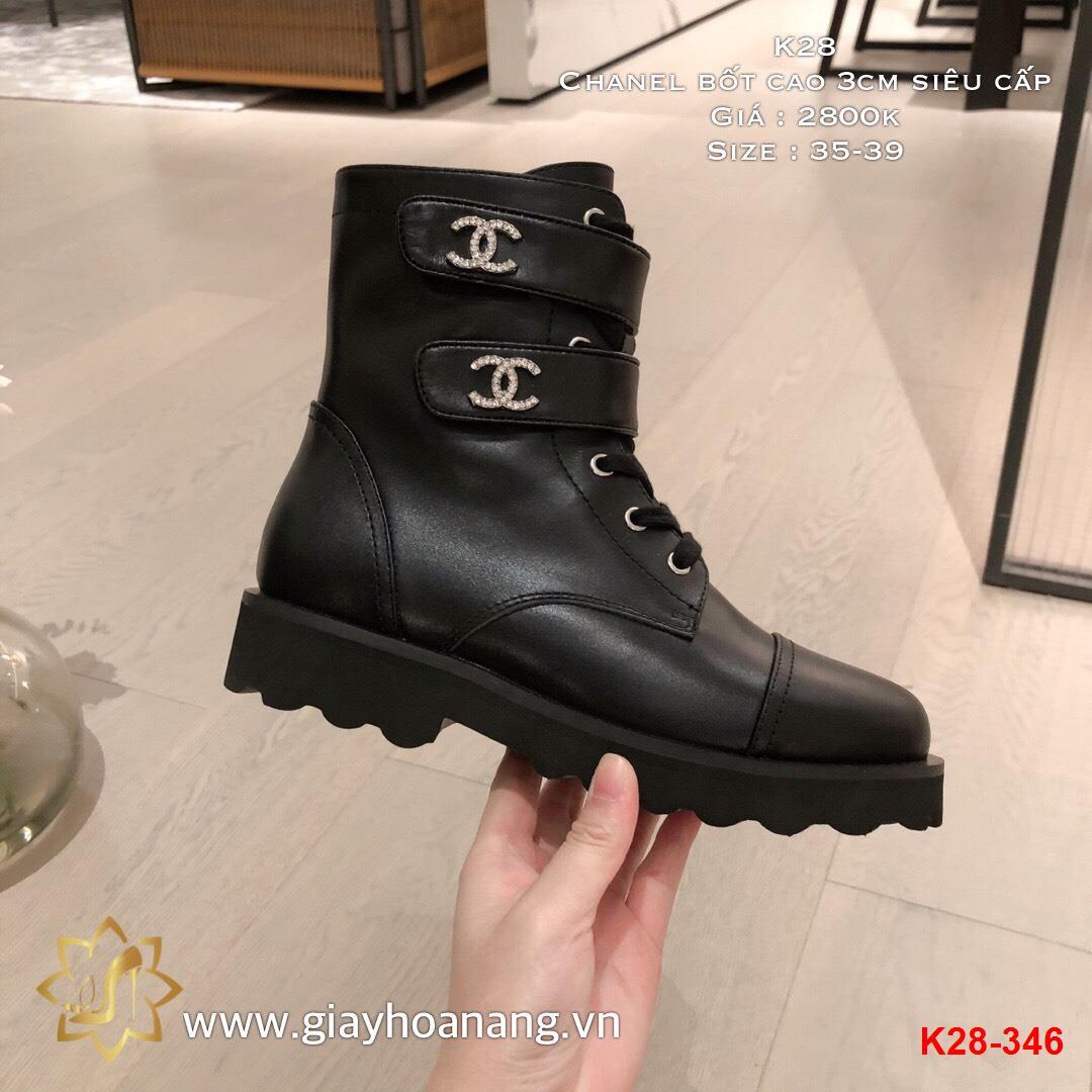 K28-346 Chanel bốt cao 3cm siêu cấp