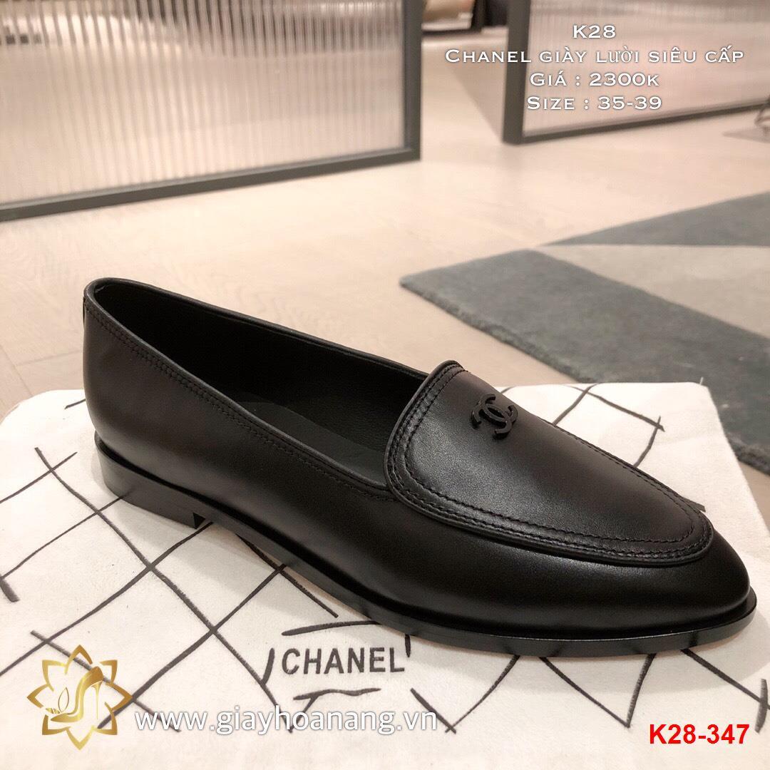 K28-347 Chanel giày lười siêu cấp