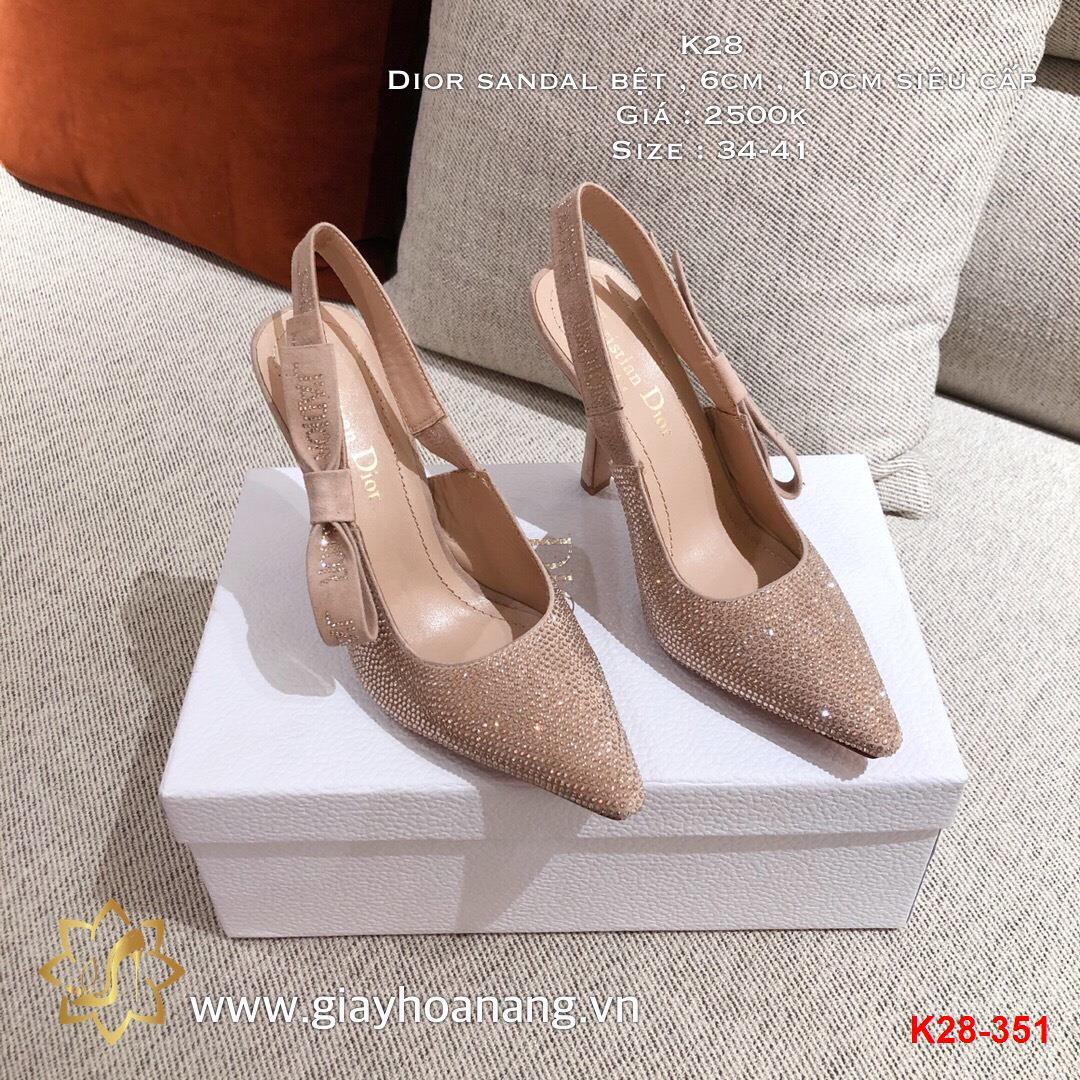 K28-351 Dior sandal bệt , 6cm , 10cm siêu cấp
