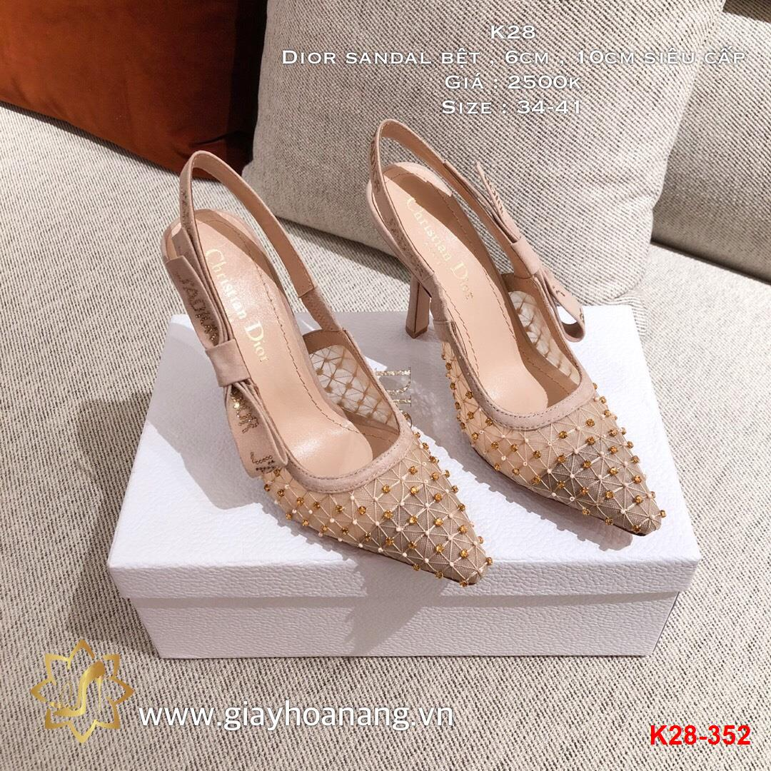 K28-352 Dior sandal bệt , 6cm , 10cm siêu cấp