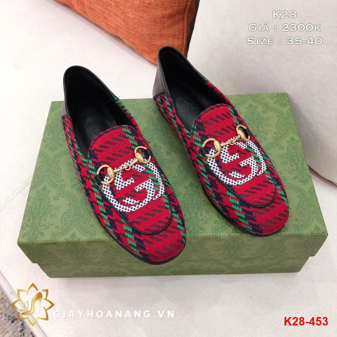 K28-453 Gucci giày lười siêu cấp