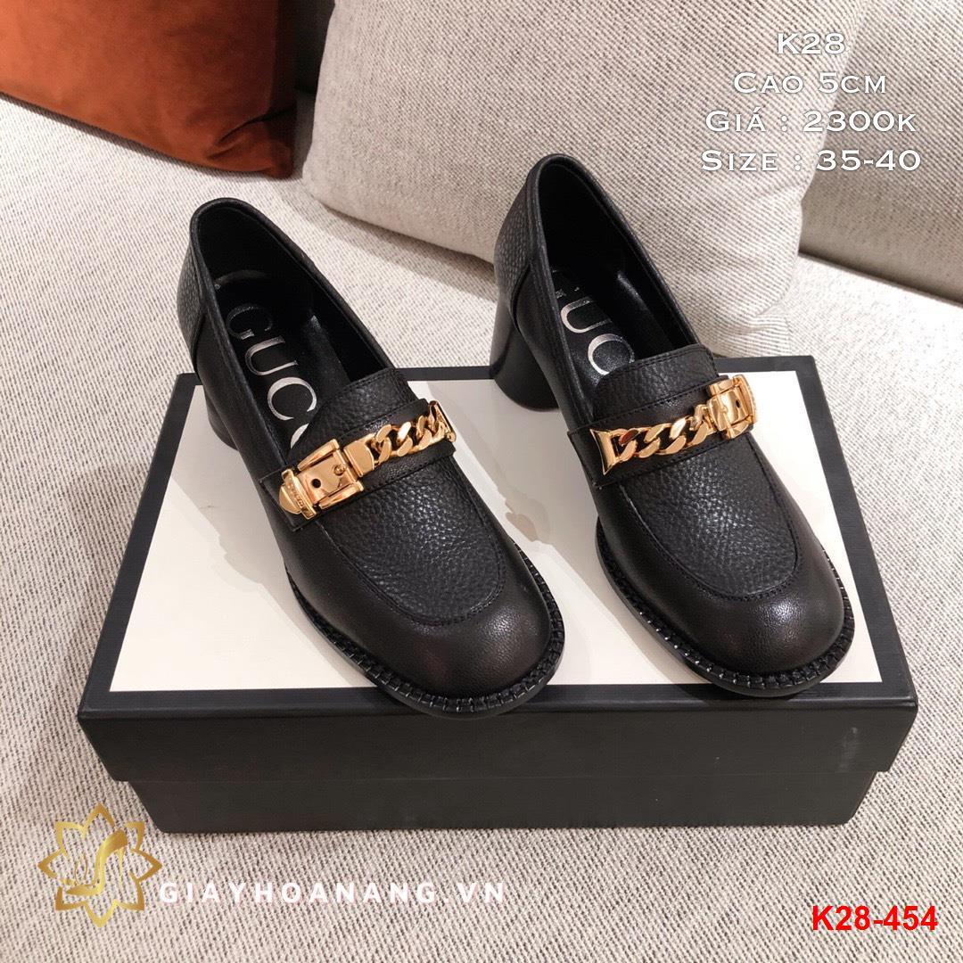 K28-454 Gucci giày cao 5cm siêu cấp