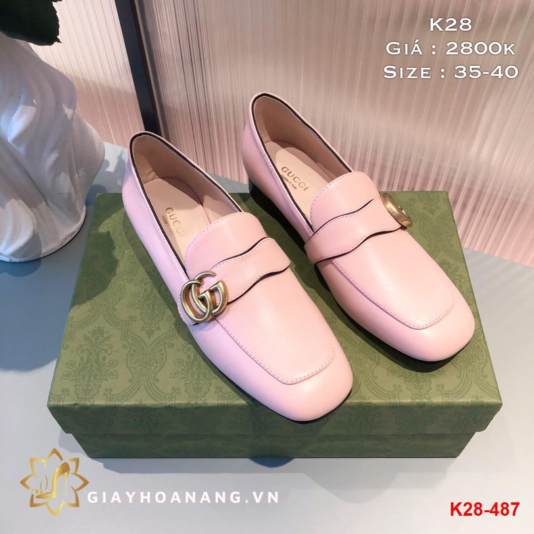 K28-487 Gucci giày lười siêu cấp