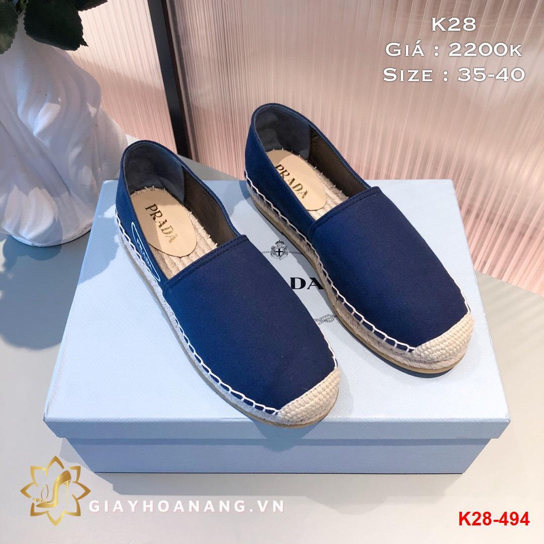K28-494 Prada giày lười siêu cấp