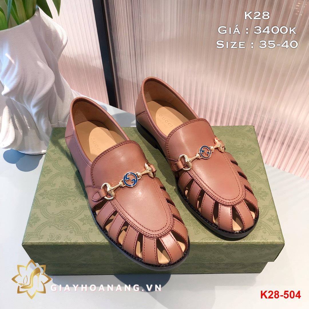 K28-504 Gucci giày lười siêu cấp