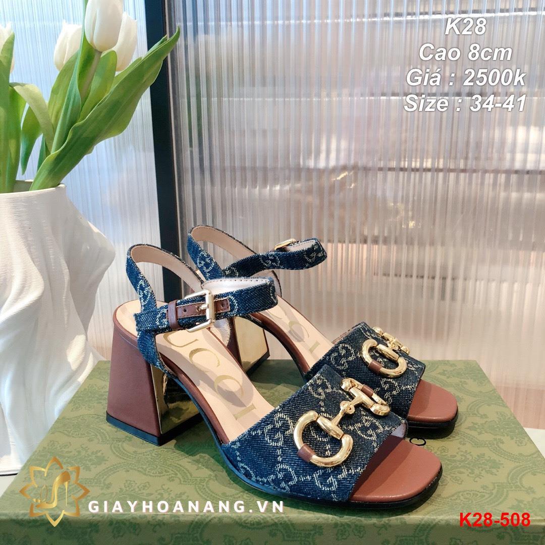 K28-508 Gucci sandal cao 8cm siêu cấp
