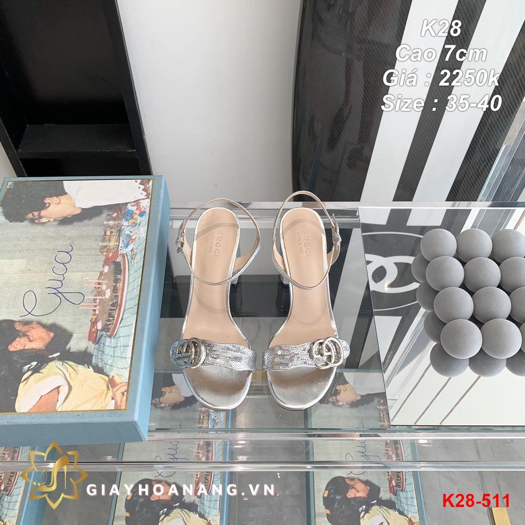 K28-511 Gucci sandal cao 7cm siêu cấp