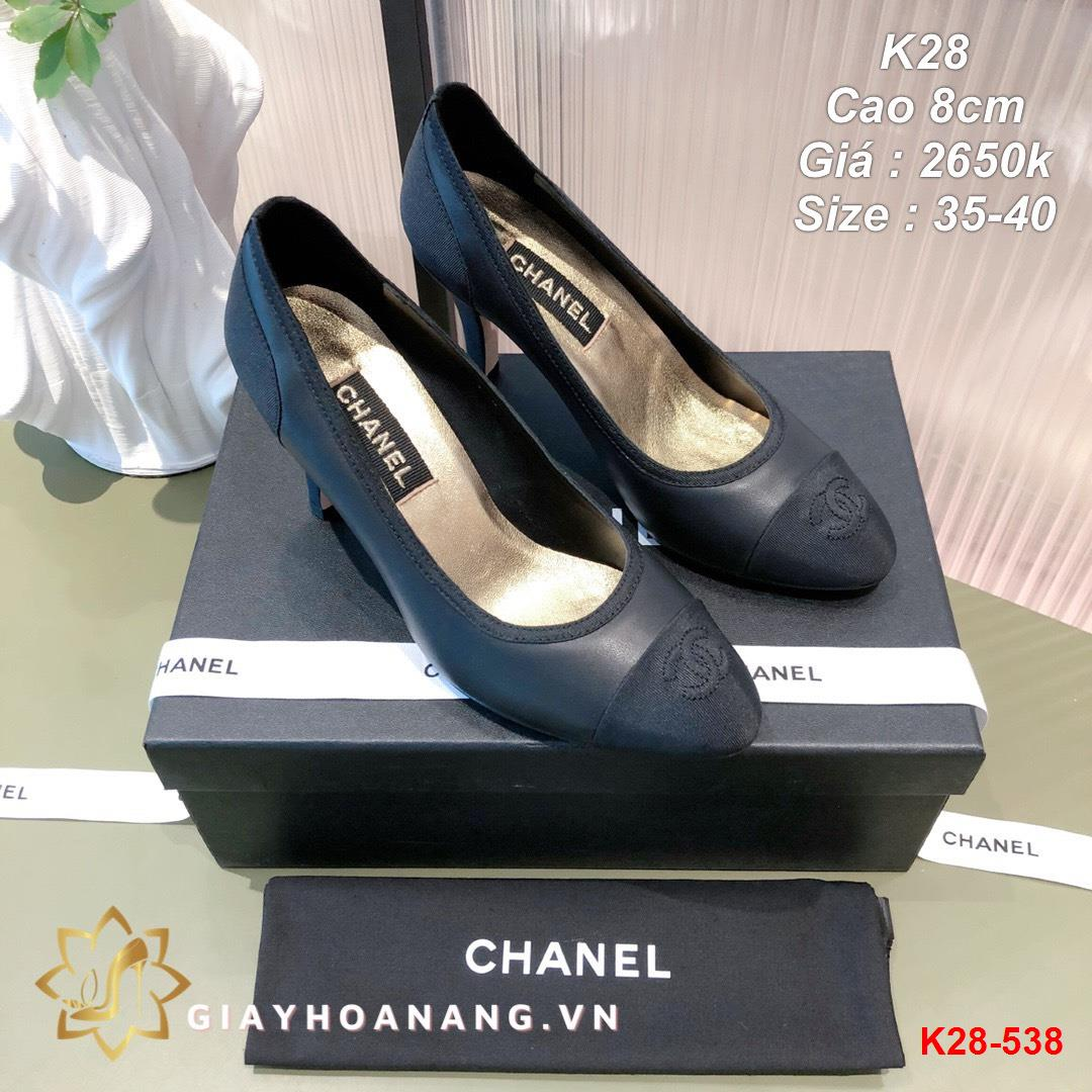 K28-538 Chanel giày cao 8cm siêu cấp