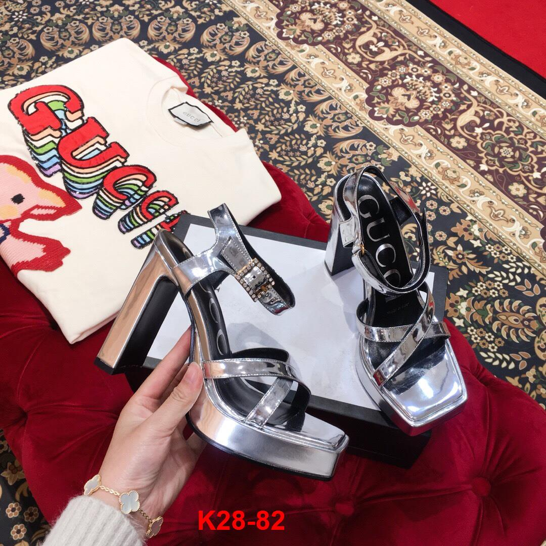 K28-82 Gucci sandal cao 10cm siêu cấp
