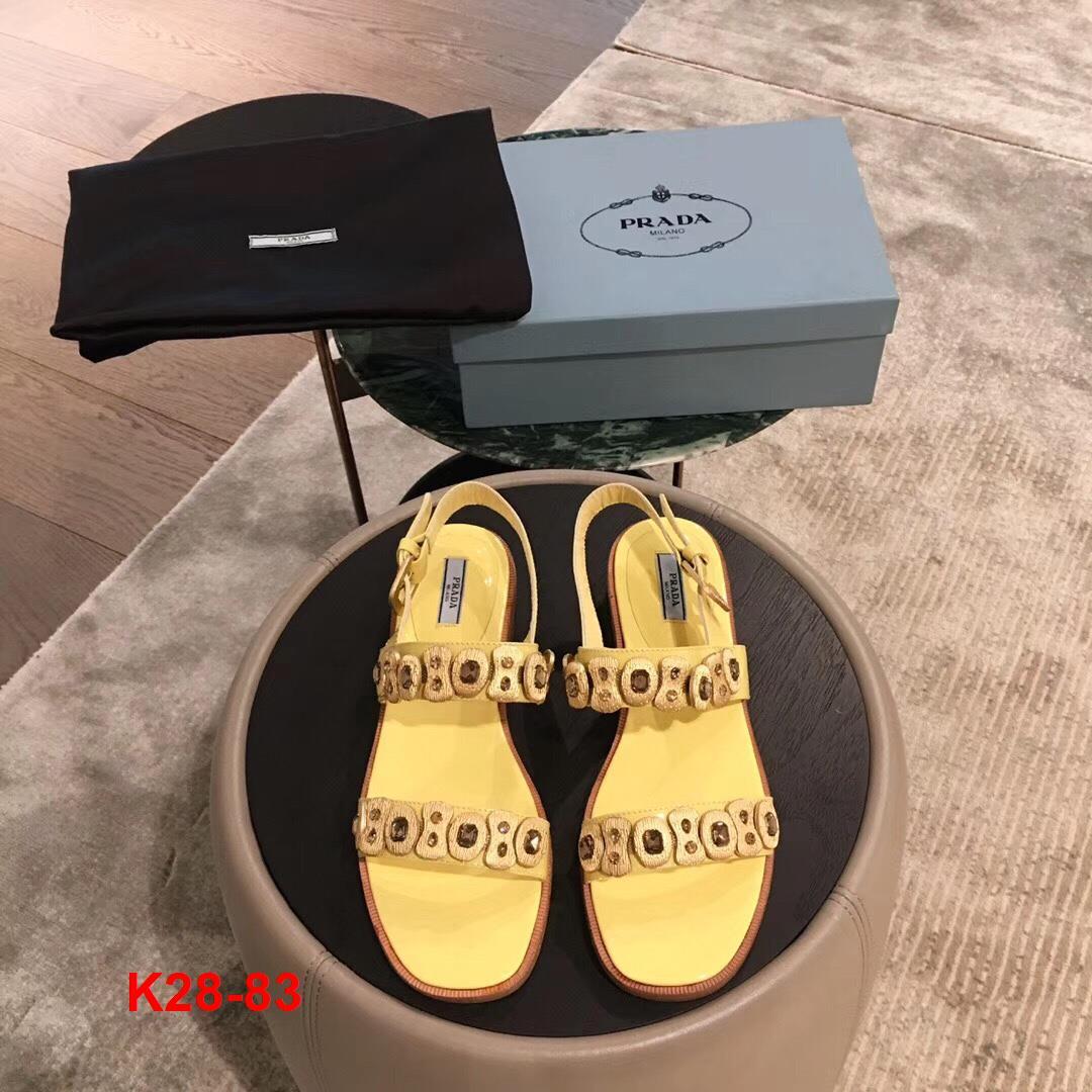 K28-83 Prada sandal cao 2cm siêu cấp