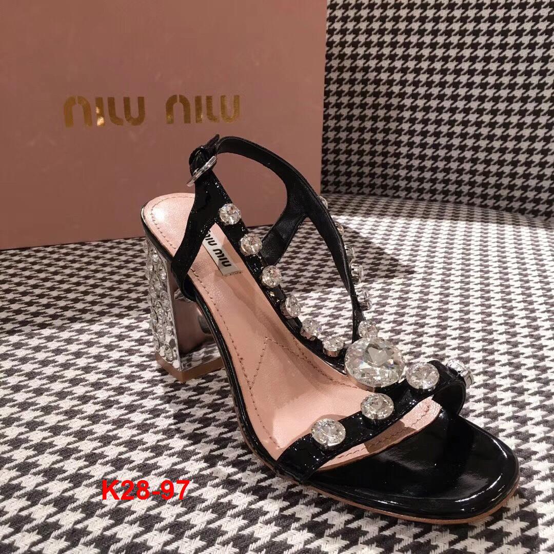 K28-97 Miu Miu sandal cao 9cm siêu cấp