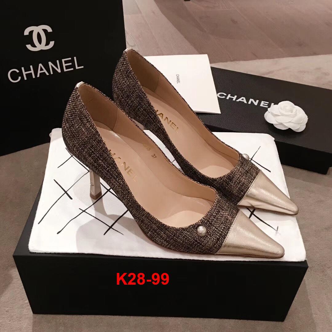 K28-99 Chanel giày cao 8cm siêu cấp
